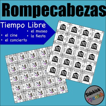 Los pasatiempos / Free time Activities Vocabulary Puzzles