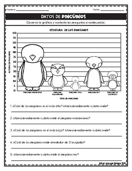 Los pingüinos Skill Builders in Spanish