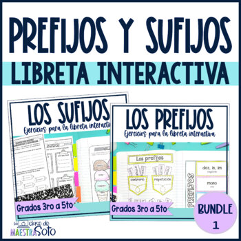 Spanish prefixes and suffixes Bundle | Los prefijos y los sufijos