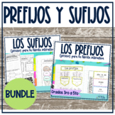 Prefijos y sufijos Spanish prefixes and suffixes Bundle In