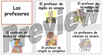 Los profesores - describing your teacher
