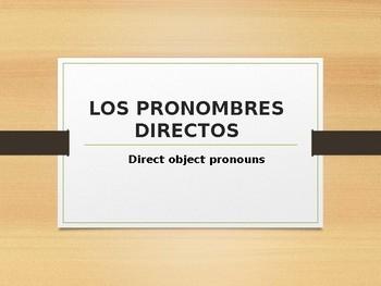 Los pronombre directos