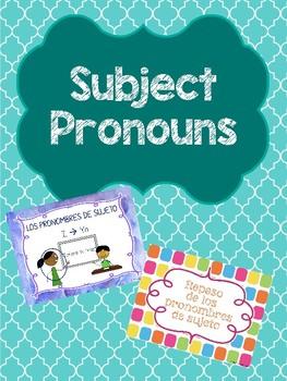 Los pronombres de sujeto / Subject Pronouns Bundle