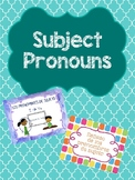 Los pronombres de sujeto / Subject Pronouns Bundle