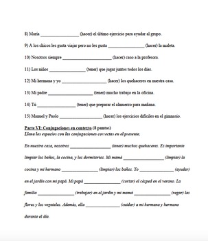 Los quehaceres carpeta completa - The chores unit complete folder - Spanish