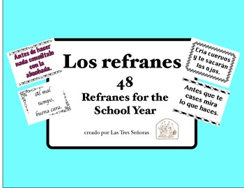 Los refranes  Spanish Sayings for the Year
