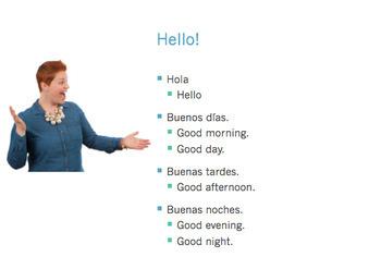 Los saludos, Spanish Greetings PowerPoint