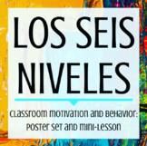 Los seis niveles - Bilingual poster set and mini-lesson on the 6 levels