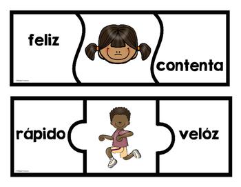 Rompecabeza de los sinónimos-Synonyms Puzzle  Spanish