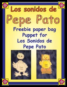 Los sonidos de Pepe Pato Paper Bag Puppet