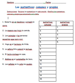 Los sustantivos: común y propio (#3)