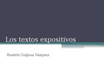 Los textos expositivos