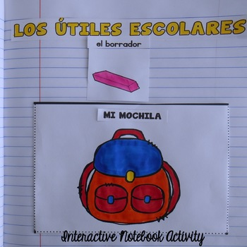 Los Útiles Escolares {Activity for Interactive Notebook}