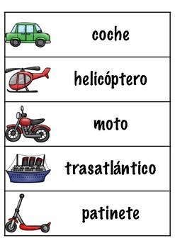 Los transportes (Spanish)