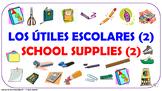 Los útiles escolares (2). ¿Qué necesitas para la escuela?  / PPT. con audio.