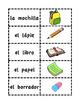 Los útiles escolares MEMORY MATCH CARDS
