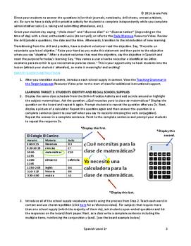 Los útiles escolares - School Supplies All-Inclusive Spanish Lesson Plan