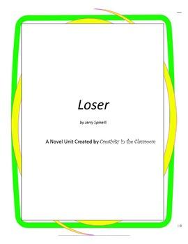 Loser Novel Unit Plus Grammar