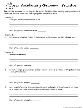 Loser Vocabulary Packet