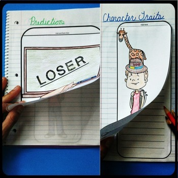 Loser by Jerry Spinelli Interactive Notebook