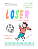 Loser by Jerry Spinelli: Novel study for Grades 5-8