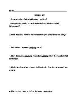 Loser by Jerry Spinelli Worksheets/Discussion Questions