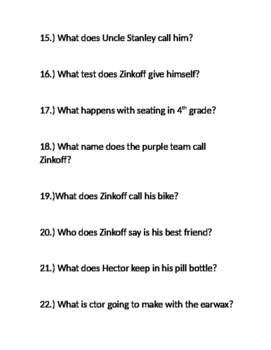 Loser by Jerry Spinelli comprehension questions