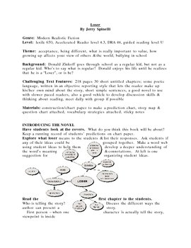 Loser guided reading plan