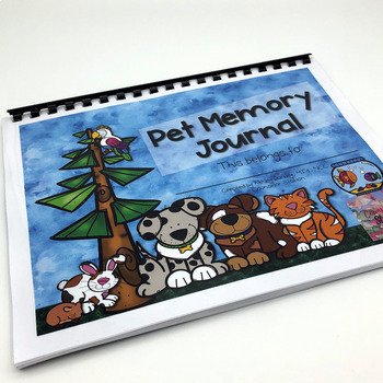 Loss of Pet Memory Book and Grief Activities for School Counseling