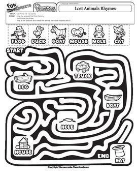 Lost Animals Rhymes Maze