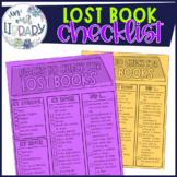 Lost Book Checklist