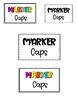 Lost Cap Tub Labels - Glue Stick Caps and Marker Caps
