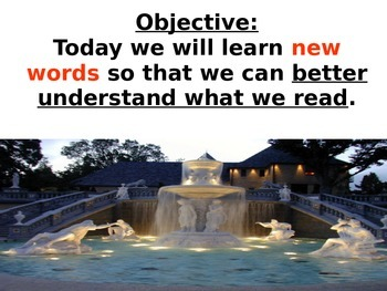 Lost City Vocabulary Power Point Reading Street 2011