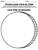 Lost City of Atlantis $1 Coin Worksheet W/Currency Word Search