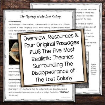 North Carolina and The Lost Colony Research and Write a Newspaper Article