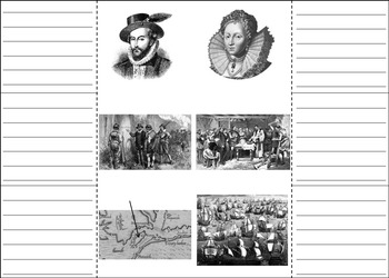 Early America: Lost Colony of Roanoke Interactive Notebook Foldable Activity