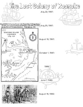 Lost Colony of Roanoke Doodle Notes