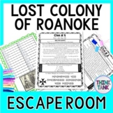 Lost Colony of Roanoke ESCAPE ROOM: John White, Virginia Dare - Print & Go!