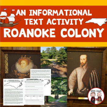 Lost Colony of Roanoke Informational Text Activity