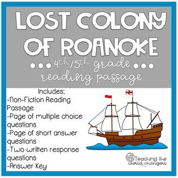 Lost Colony of Roanoke Reading