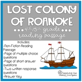 Lost Colony of Roanoke Reading
