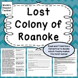 Lost Colony of Roanoke: Think Like A Detective!