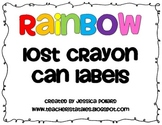 Lost Crayon Can Labels {Freebie}