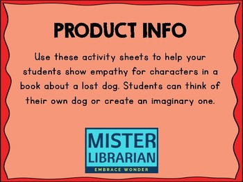 Lost Dog Activity Sheets