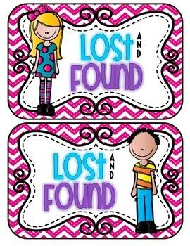 Lost & Found Bucket Labels