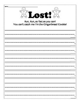 Lost Gingerbread Adjective Descriptive Writing