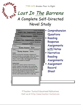 Lost In The Barrens: A Complete Novel Study