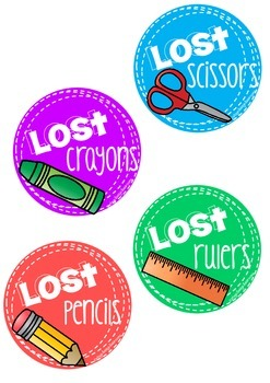Lost Item Labels PLUS Handing in papers management system