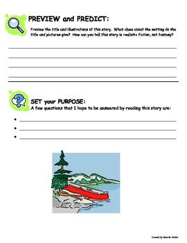 Lost Lake Reading Guide Response Packet - Without page Numbers