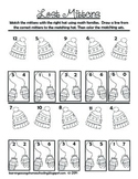 Lost Mittens - Addition Families Worksheet